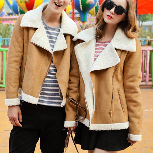 [grxjy56002498]fashion polyester sherpa warm lover coat