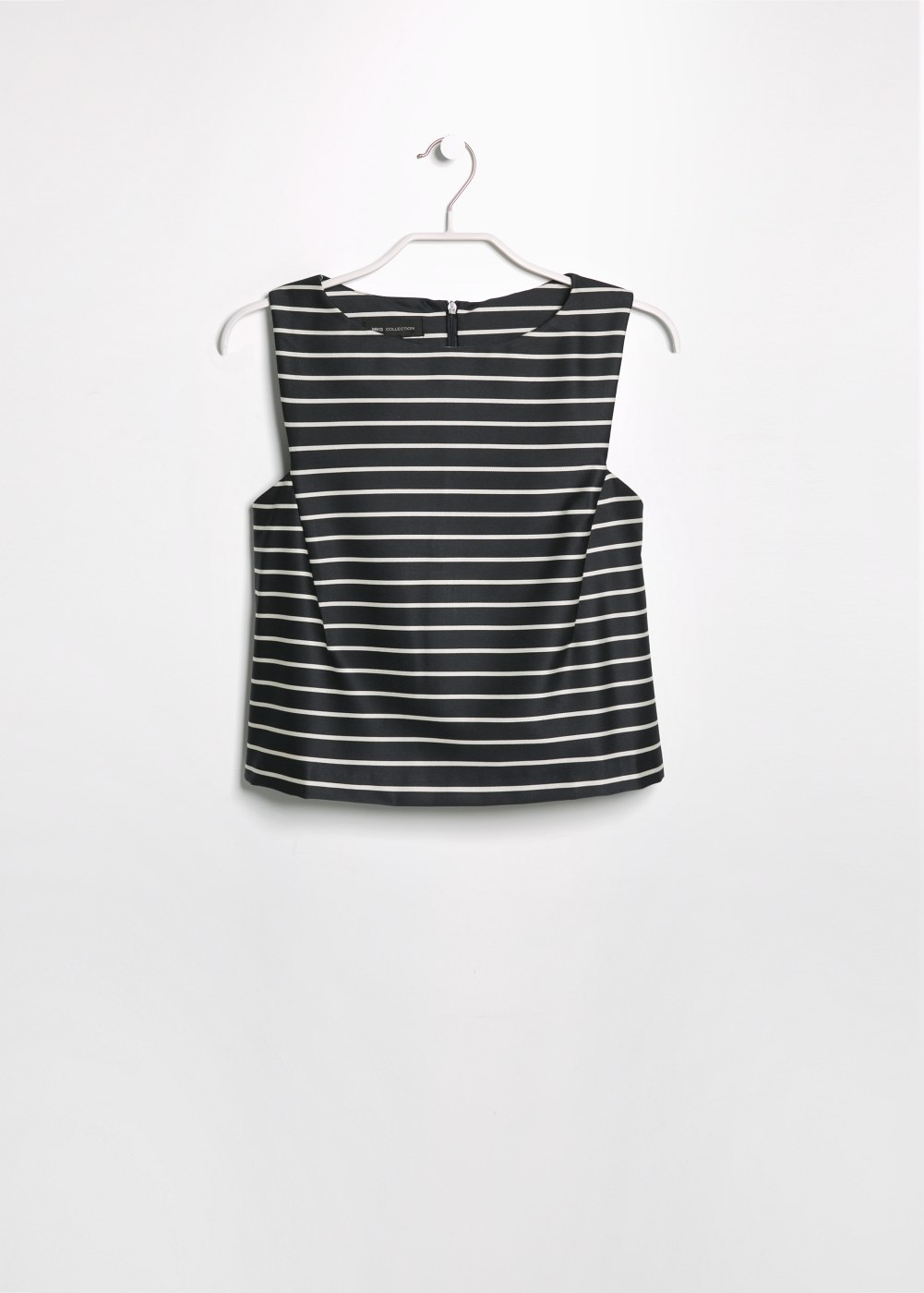 Striped cropped top -  							  							Women - 							MANGO