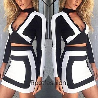 tank top clothes long sleeves monochrome monochrome dress two piece dress set bodycon bodycon dress party dress sexy party dresses sexy dress sexy party outfits sexy outfit black and white black and white dress long sleeve dress summer dress summer outfits fall dress fall outfits spring dress spring outfits classy dress elegant dress cocktail dress colorblock colorblock dress cute cute dress girly girly dress date outfit birthday dress holiday dress clubwear club dress wedding clothes wedding guest engagement party dres homecoming homecoming dress romantic dress dope