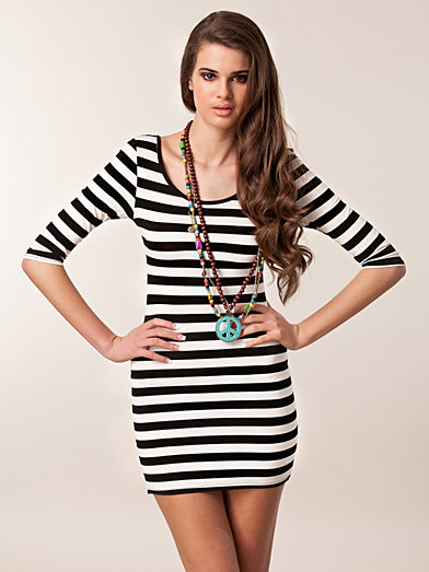 Stripe Detail Dress - Club L - Striped - Dresses - Clothing - Women - Nelly.com Uk