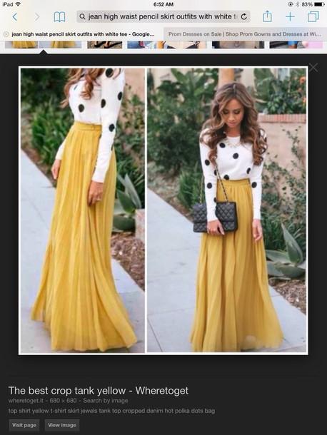 dress yellow maxi skirt