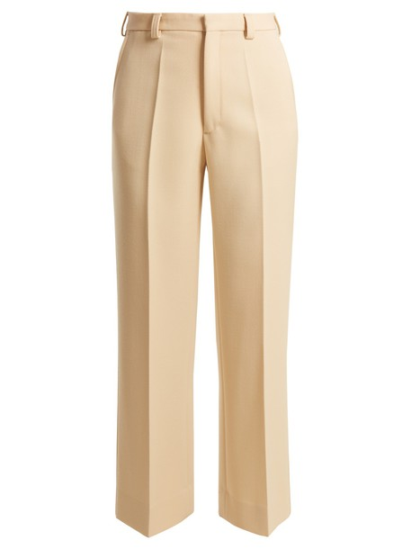 MAISON MARGIELA mohair wool beige pants