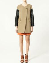 coat,zara,camel,leather,jacket
