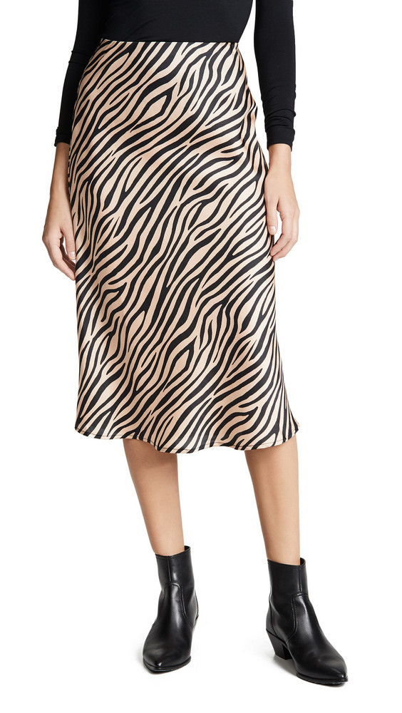 re:named re: named Jully Tiger Midi Skirt in black