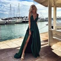 Formal Dress Cheap Sleeveless Sweep/Brush Train Mermaid Beading Backless Sweetheart Tulle Dress