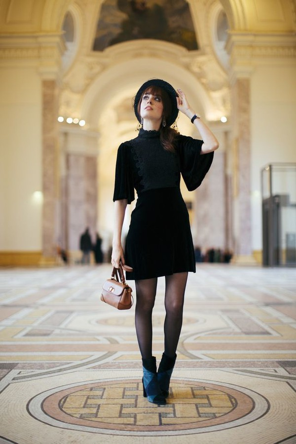 Black mini dress tumblr color