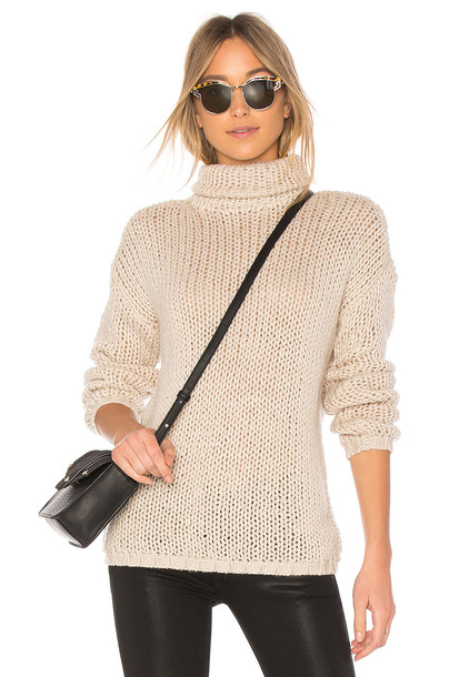Lovers + Friends turtleneck cream sweater