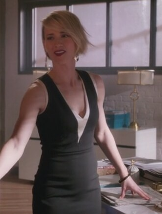 dress black sleeveless margaux lemarchal karine vanasse revenge