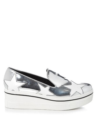 metallic loafers silver shoes