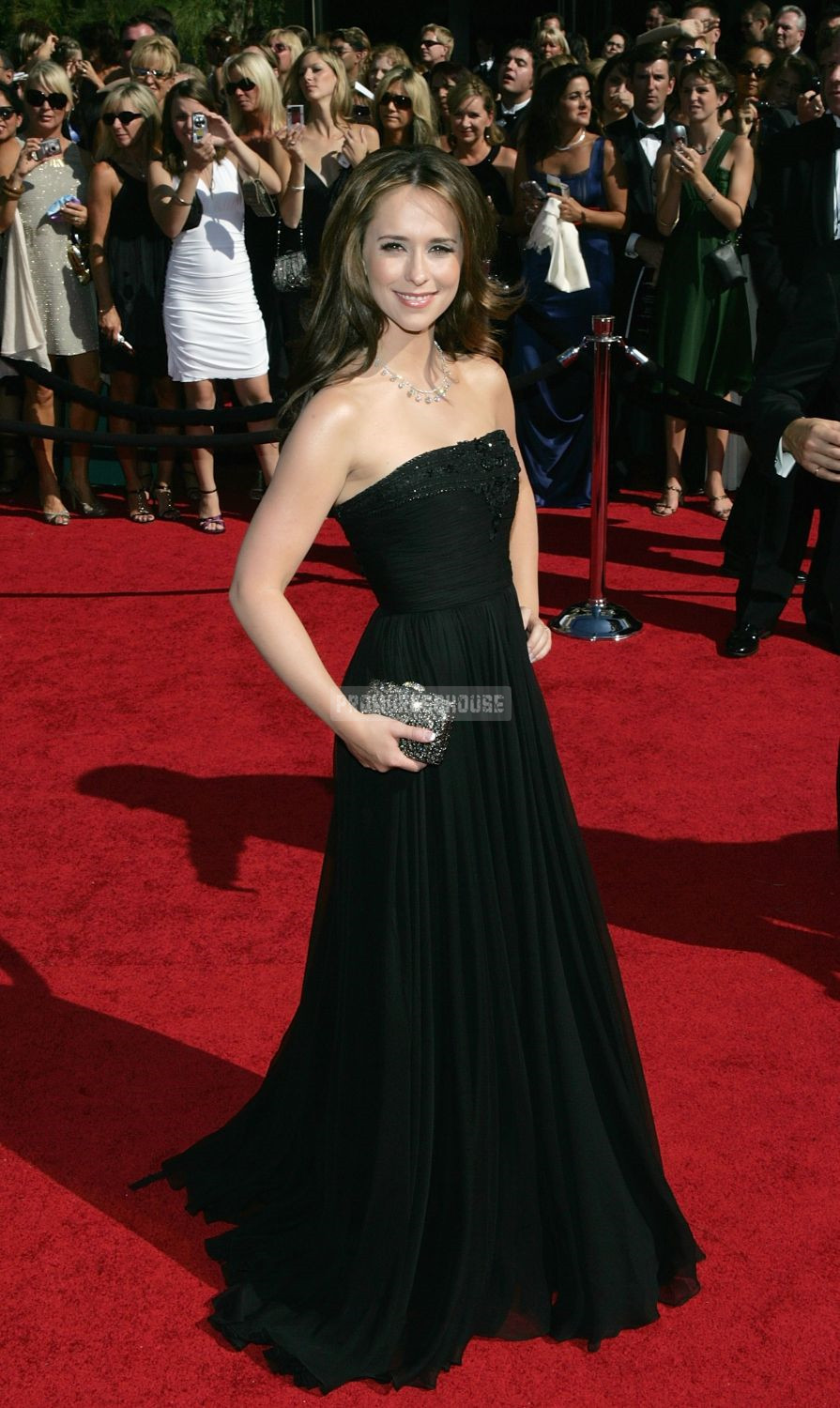 Ruched Black Chiffon Princess Strapless Sequins Celebrity Dress - Promdresshouse.com