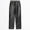 & other stories | leather trousers | black