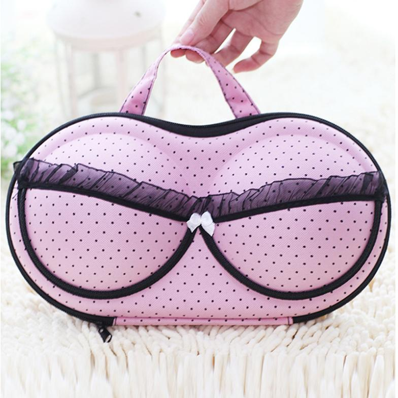 Travel underwear bar storage box covered bra finishing box panties socks travel portable storage box & bra bag