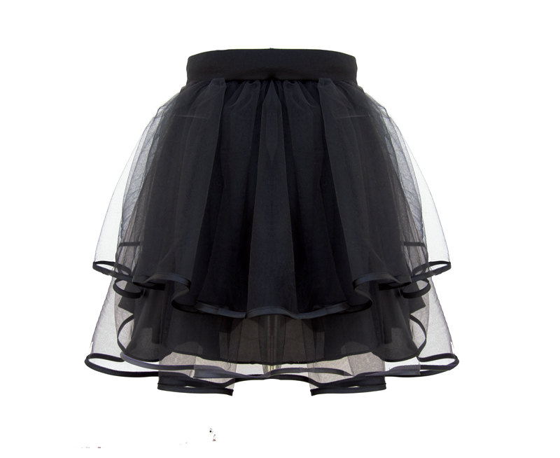 Nina Tulle Tutu Streetstyle Celebrity Skirt - Piping Hem