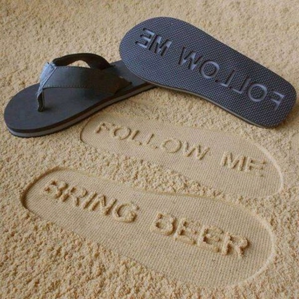 shoes thong beer flip-flops bring beer