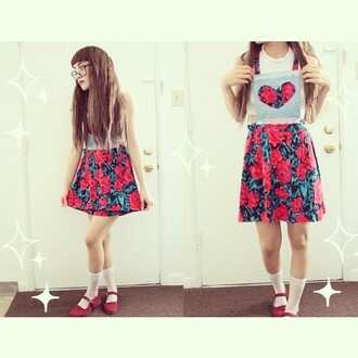 dress overalls any price girly dress red flowers dress floral black green