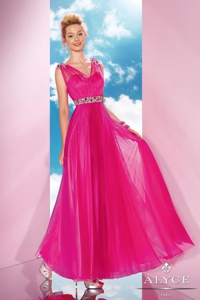 dress prom dress pink prom dress