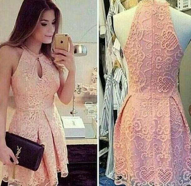 dress floral short dress rose lace dress