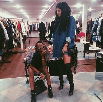 shoes kylie jenner black black  high heels heels blouse high heels