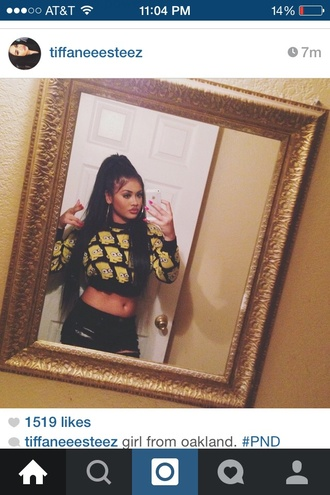 top tiffaneeesteez bart simpson the simpson the simpsons cute cropped sweater crop tops crewneck jeans