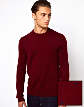 ASOS | ASOS Aztec Embroidery Jumper at ASOS