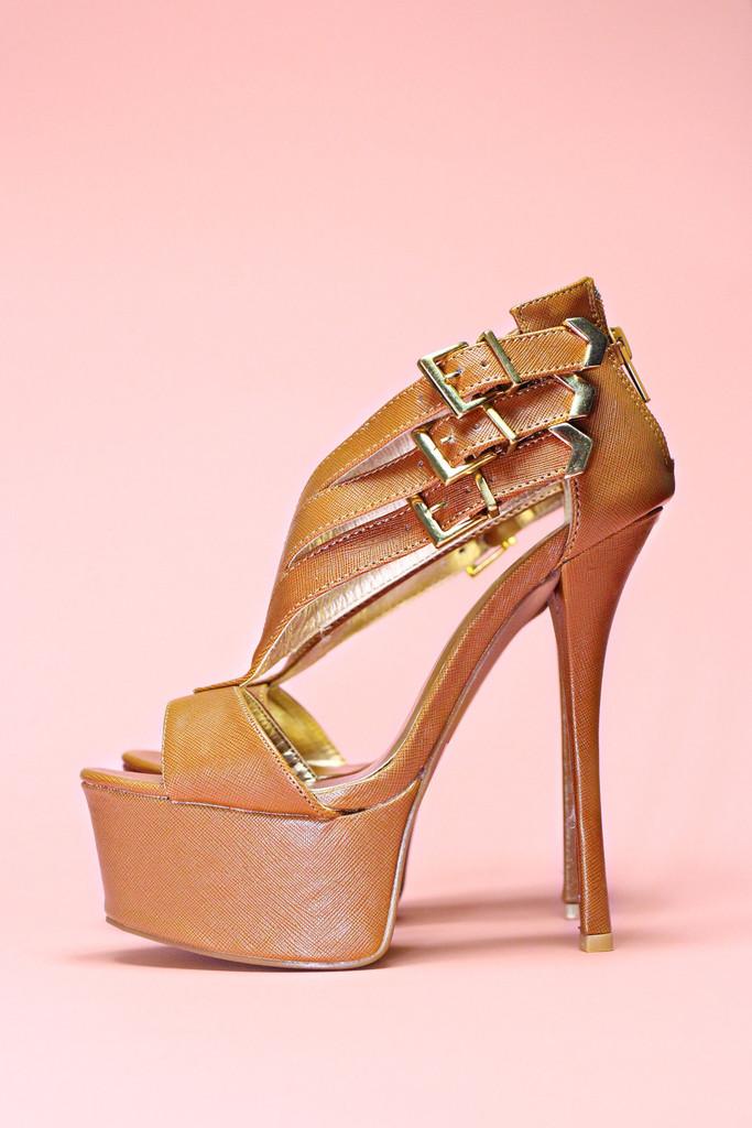 Three Strap Platform Heels - Pinch-21 | uoionline.com: Women's Clothing Boutique