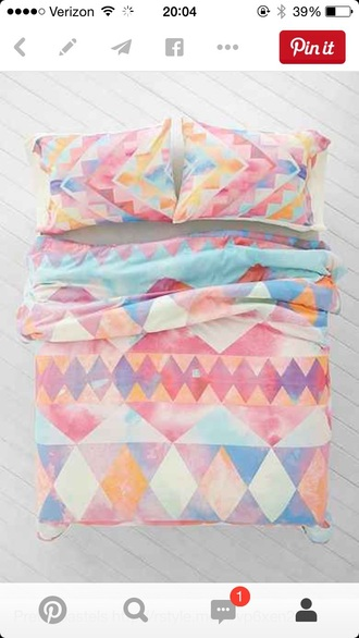 home accessory the comforter bedding chevron pastel hipster