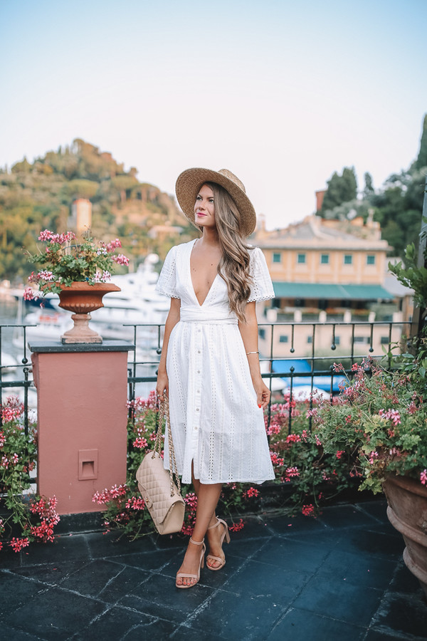 southern curls and pearls blogger dress bag hat shoes jewels summer dress summer outfits sandals chanel bag white dress