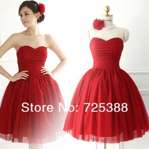 junior red bridesmaids dresses woman bridesmaide brides maid dress ...