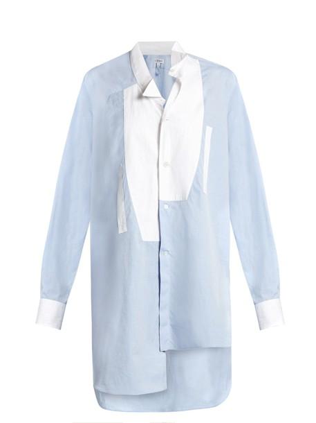 LOEWE shirt oversized cotton blue top