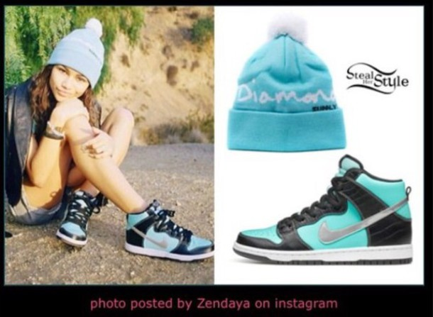 shoes tiffany blue nike high tops