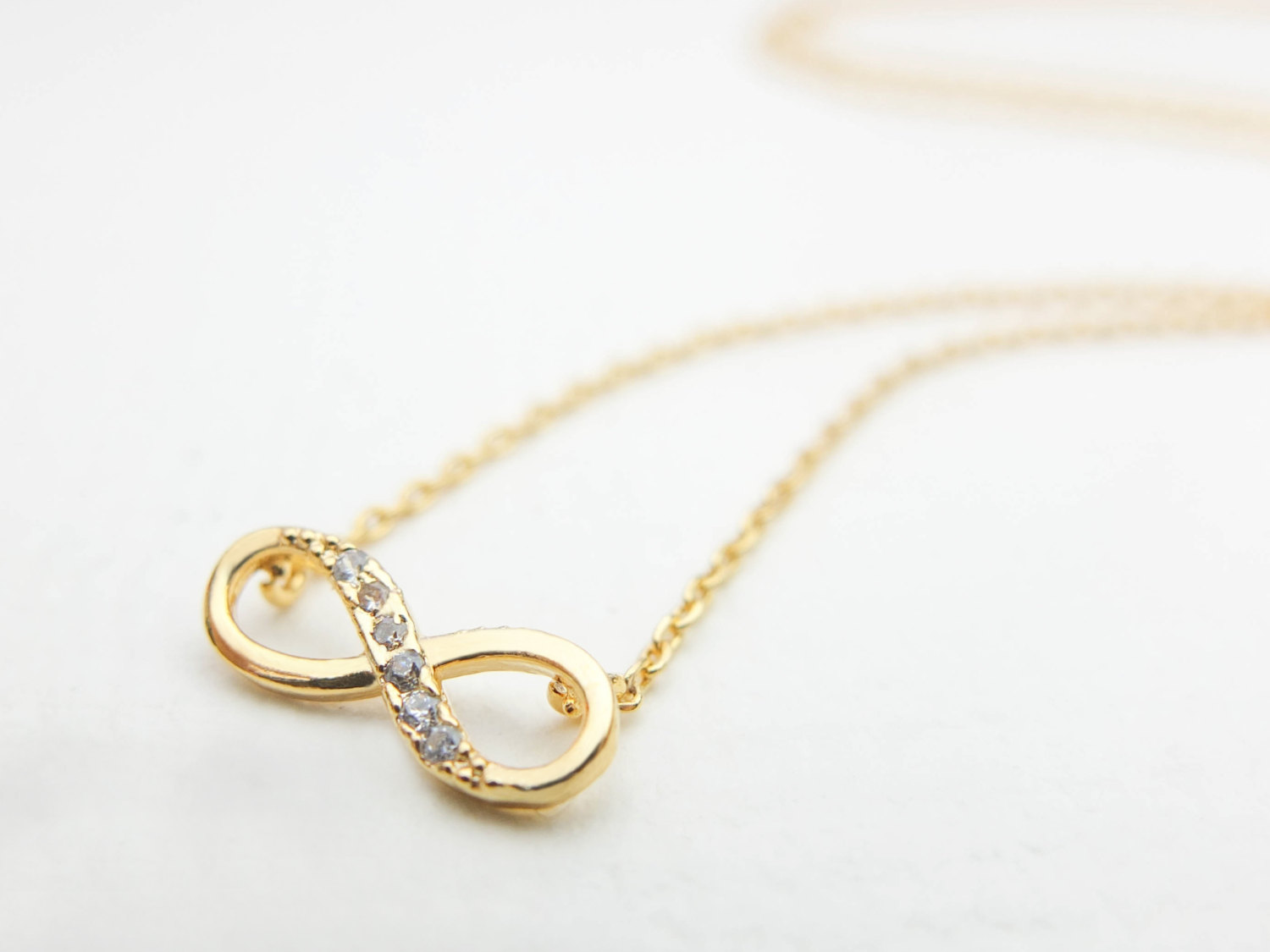 Gold infinity necklace gold necklace
