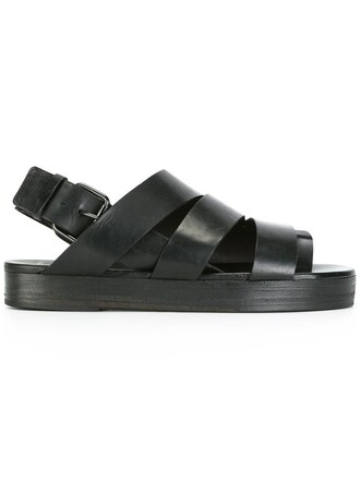 women sandals platform sandals leather black shoes