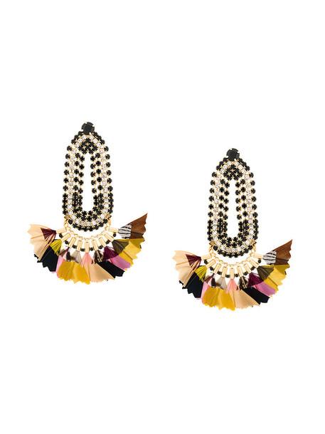 Gas Bijoux women earrings feather earrings gold jewels