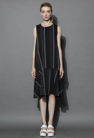 dress ultra chic ruffled shift dress in black chicwish chicwish.com summer dress black dress shift dres shift dress
