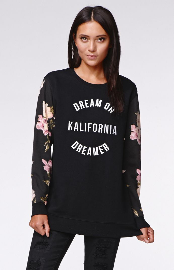 Kendall & kylie boyfriend pullover hoodie at pacsun.com