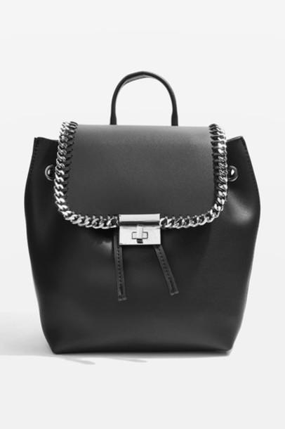 Topshop backpack black bag
