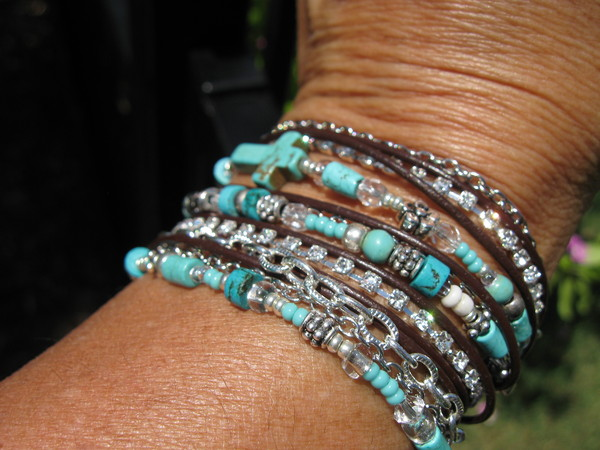 jewels leather wraps boho