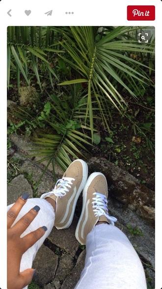 shoes canvas sk8 hi adidas tan shoes vans high top sneakers vans of the wall