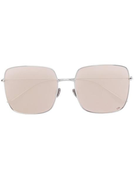 Dior Eyewear metal women sunglasses grey metallic