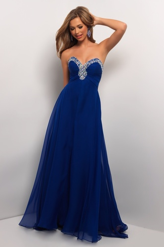 dress blue dress blue prom dress navy prom dress diamonte dress prom gown embellished dress