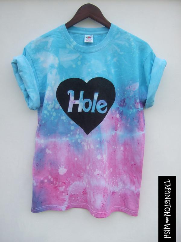 shirt dip dyed tie dye t-shirt grunge courtney love