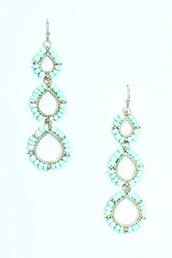 jewels,earrings,tear drop,teardrop earrings,mint,style