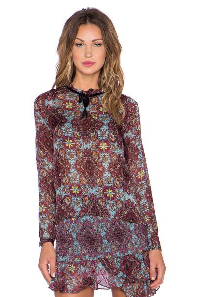 For Love & Lemons blouse burgundy