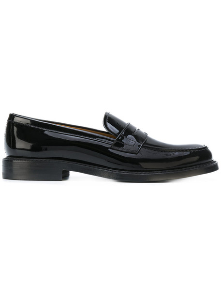Church's women classic loafers leather black shoes