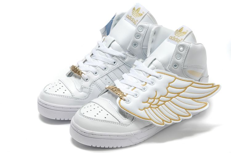Best Price Adidas OBYO Jeremy Scott JS Wings White Gold popular shoes online hot sale