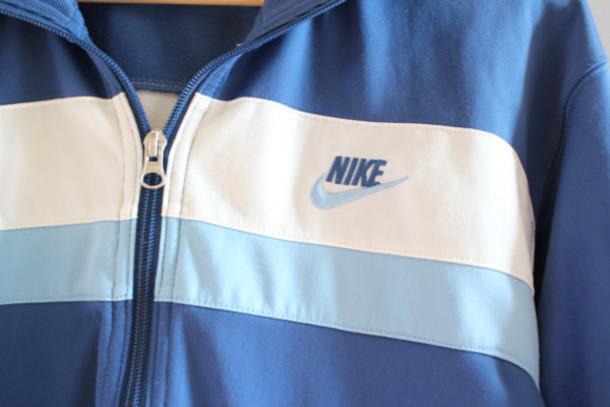 3c8cbf210910 jacket nike retro nike 90s nike blue nike jacket vintage nike nike track  jacket