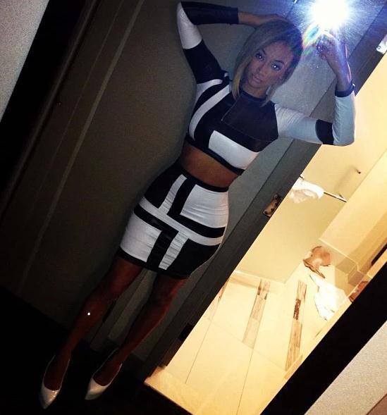 Cute black and white fashion dress