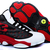 Retro Male Jordans - Retro 13 XIII Black & Red and White Color
