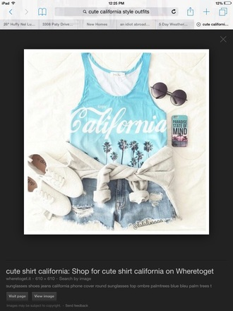 tank top california surf summer hipster beach look summer outfits shirt graphic tee style beach style so cal