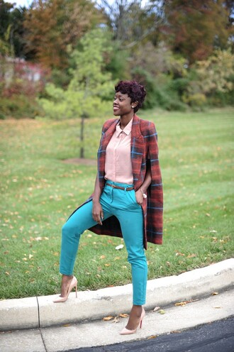 shirt pants blogger skinny hipster jewels coat tartan